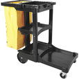 Rubbermaid Janitor Cart 2000 — Model# FG617388BLA The price is $229.99.