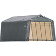 ShelterLogic 13Ft.W Peak Style Instant Garage — 24ft.L x 13ft.W x 10ft.H, Model# 74432 The price is $799.99.