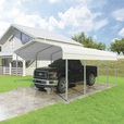 VersaTube One-Vehicle Steel Shelter — 20ft.L x 12ft.W x 7ft.H The price is $1,299.99.