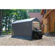 ShelterLogic Sport Shed-in-a-Box Snowmobile/Motorcycle Shed — 12ft.L x 6ft.W x 8ft.H, Model# 70413 The price is $234.99.
