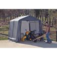 ShelterLogic Ultra Shed — Peak Style, 12Ft.L x 10Ft.W x 8Ft.H, Model# 72813 The price is $429.99.