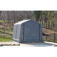 ShelterLogic Ultra Shed — Peak Style, 8Ft.L x 11Ft.W x 10Ft.H, Model# 72853 The price is $399.99.