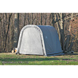 ShelterLogic Ultra Shed — Round Style, 16Ft.L x 8Ft.W x 8Ft.H, Model# 76823 The price is $424.99.