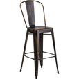 Flash Furniture Distressed Metal High Back Bar Stool — 30in.H, Copper, Model# ET353430COP The price is $77.99.