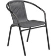Flash Furniture Rattan Stack Chair — Gray, Model# TLH037GY The price is $22.99.