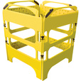 Plasticade Safegate Manhole Guard — Yellow, 29.5in.L x 39.4in.W, Model# CSP-SG-4KIT-Y The price is $169.99.