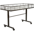 Econoco Black Rolling Dump Table — 23 1/2in.W x 47in.L x 31in.H, Model# DT48/B The price is $137.99.