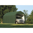 ShelterLogic 12Ft.W Homestead Barn Style Garage — 24ft.L x 12ft.W x 11ft.H, Green, Model# 90154 The price is $999.99.