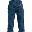 Carhartt Men's Washed Denim Work Dungaree - Deep Stone, 52in. Waist x 30in. Inseam, Big Style, Model# B13 The price is $39.99.