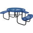UltraSite 3-Seat, 46in. Diamond-Pattern Round Picnic Table — Blue, Model# 358H-RDV-BLU The price is $849.99.