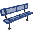 UltraSite 6ft. Surface-Mount Bench — Blue, Model# 940SM-P6-BLU The price is $479.99.