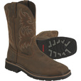 Wolverine Men's?« 10in. Rancher Work Boots - Dark Brown/Rust, Size 10 1/2, Model# W10704 The price is $99.99.