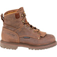 FREE SHIPPING — Carolina Men's 6in. Waterproof Work Boots - Brown, Size 12, Model# CA7028 The price is $144.99.