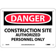 National Marker CONSTRUCTION SITE, AUTHORIZED PERSONNEL ONLY Sign — 7in. x 10in., Rigid Plastic, Model# D247R