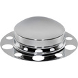 Roadmaster Chrome Front Axle Cover with Pop-Off Cap — Fits 20in., 22 1/2in. and 24 1/2in. Steel Wheels with 1 1/2in. Nuts, Model# 0215 The price is $33.99.