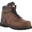 FREE SHIPPING — Georgia Men's 6in. Brookville Waterproof Work Boots - Brown, Size 9, Model# G7134 The price is $99.99.