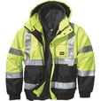 FREE SHIPPING — Gravel Gear Men's Class 3 High Visibility 3-in-1 Bomber Jacket with  3M™ Scotchlite™ Reflective Material — Lime, 3XL The price is $77.99.