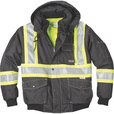 FREE SHIPPING — Gravel Gear Men's Class 1 High Visibility 3-in-1 Bomber Jacket with 3M Scotchlite — Lime, Medium The price is $99.99.