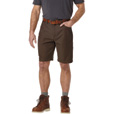 Gravel Gear Men's Flex Wear 10in. Brushed Twill Work Shorts with Teflon Fabric Protector — Dark Coffee, 32 Waist The price is $49.99.