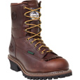 FREE SHIPPING — Georgia Men's 8in. Waterproof Steel Toe Logger Boot - Dark Brown, Size 10, Model# G7313 The price is $159.99.