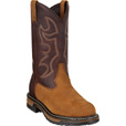 Rocky Men's 11in. Branson Roper Pull-On Western Boot - Brown, Size 15 Wide, Model# 2732 The price is $149.99.