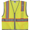 FREE SHIPPING — Gravel Gear Men's Class 2 High Visibility Contrast Mesh Vest — Lime, 2X/3X The price is $8.99.