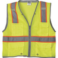 FREE SHIPPING — Gravel Gear Men's Class 2 High Visibility Heavy-Duty 6-Pocket Vest — Lime, 3XL The price is $13.99.