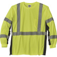 FREE SHIPPING — Gravel Gear HV Men's Class 3 High Visibility Black-Side Long Sleeve T-Shirt — Lime, Size 4XL The price is $24.99.