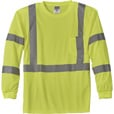 Gravel Gear HV Men's Class 3 High Visibility High-Performance Long Sleeve T-Shirt — Lime