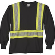 Gravel Gear Men's Class 1 Long Sleeve T-Shirt — Black/Lime, Large