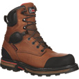 Rocky Element 8in. Waterproof Soft Toe Work Boots — Brown, Size 10.5, Model# RKYK075 The price is $159.99.