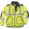 Gravel Gear Men's Class 3 High Visibility Quilted Jacket with 3M Reflective Tape — Lime, XL