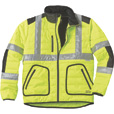 FREE SHIPPING — Gravel Gear Men's Class 3 High Visibility Quilted Jacket with 3M Reflective Tape — Lime, XL The price is $55.99.
