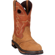 FREE SHIPPING — Rocky Men's 11in. Branson Saddle Roper Waterproof Western Boot - Brown, Size 9 1/2 Wide, Model# 2775 The price is $164.99.