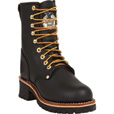 FREE SHIPPING — Georgia Men's 8in. Logger Work Boots - Brown, Size 8 1/2, Model# G8120 The price is $134.99.
