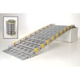 Roll-A-Ramp Roll-Away Aluminum Loading Ramp — 875-Lb. Capacity, 10ft.L x 30in.W, Model# A13009A19 The price is $899.99.
