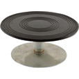 Vestil Heavy-Duty Manual Turntable — 500-Lb. Capacity, 8in. Dia., 3 15/16in.H, Model# TT-8-4 The price is $79.99.