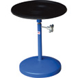 Vestil Heavy-Duty Manual Turntable —  With Pedestal, 300-Lb. Capacity, 18in. Dia., 20 15/16in.–31 15/16in.H, Model# TT-18-PED The price is $199.99.