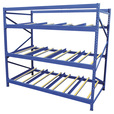 Vestil Carton Flow Rack — 3 Flow Levels, 96in.W, 36in.D, 1,000-Lb. Capacity, Model# FLOW-3-3 The price is $569.99.