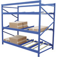 Vestil Carton Flow Rack — 5 Flow Levels, 96in.W, 48in.D, 1000-Lb. Capacity, Model# FLOW-4-5 The price is $979.99.