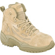 Reebok Men's Rapid Response 6in. Composite Toe Zip Boot - Desert Tan, Size 8 1/2 Wide, Model# RB8694 The price is $114.99.