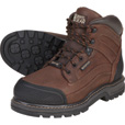 FREE SHIPPING - Gravel Gear Men's Waterproof 6in. Steel Toe Work Boot - Brown, Size 9 1/2 The price is $76.99.