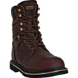 McRae 8in. Ruff Ryder Steel Toe Work Boots — Dark Brown, Size 10 1/2 Wide, Model# MR88344 The price is $85.00.