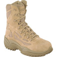 FREE SHIPPING — Reebok Men's Rapid Response 8in. Composite Toe Zip Boot - Desert Tan, Size 10 1/2, Model# RB8894 The price is $129.99.