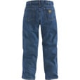 Carhartt Men's Relaxed Fit Straight Leg Jean - Dark Stone, 34in. Waist x 30in. Inseam, Regular Style, Model# B17 The price is $34.99.