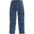 Carhartt Relaxed Fit Straight Leg Jean — Dark Stone, 42in. Waist x 28in. Inseam, Regular Style, Model# B17 The price is $34.99.