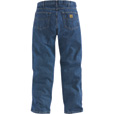 Carhartt Men's Relaxed Fit Straight Leg Jean - Stonewash, 48in. Waist x 32in. Inseam, Regular Style, Model# B17 The price is $34.99.