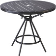 Mayline Safco CoGo Steel Outdoor/Indoor Table — 36in. Round, Black, Model# 4362BL The price is $209.99.