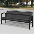Pilot Rock All-Steel 6ft.L Park Bench — Brown, Model# B78/CB-6RW The price is $979.99.