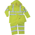 Forester Men's Class 3 High Visibility Rain Suit — Lime